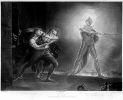 Horatio, Hamlet, and the Ghost (Artist: Henry Fuseli 1798)