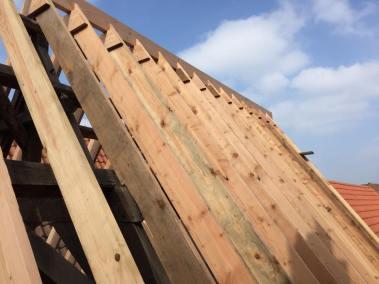 Opbouw boven te behouden dak