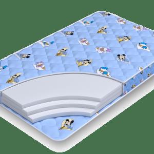 беспружинный матрас Biba Струтто 9 для детской кровати 70х140, 80х160, 90х190