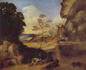 Paisaje atardecer Giorgione
