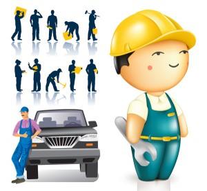 Картинка рабочих и строителей и векторное изображение ...