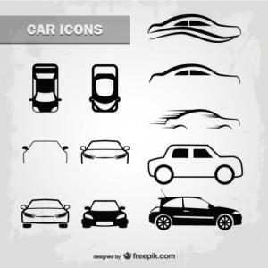 Схематические рисунки легковых автомобилей   Векторные ...