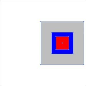 グレーを基準に「水平方向中央に整列」された。