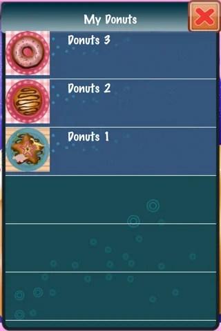 作ったドーナツは[MY DONUT]に保存される。
