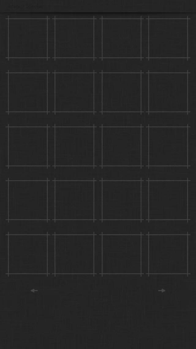 cloth01-black iPhone 5 ホーム画面用壁紙