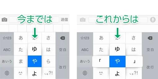 iOS 8 ではカッコの入力が超簡単に!
