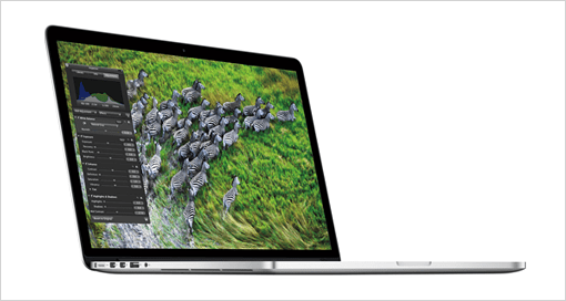 Retinaディスプレイ搭載のMacBook Pro。
