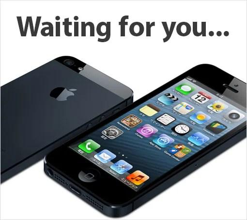 iPhone 5 が待ち遠しいね!