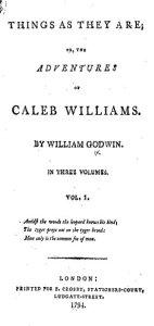 Caleb Williams title page
