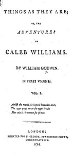Caleb Williams title page