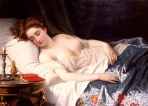 Imogen From Shakespeare's 'Cymbeline'. Wilhelm Ferdinand Souchon. (1825-1876). Oil On Canvas, 1872.