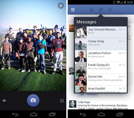 Facebook for Android Updated With New Messaging Features