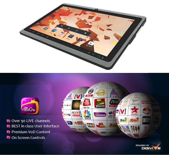 Free NexGTv Now Available on Zen Mobile's Tablet – Ultratab A100 7.0