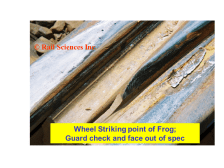 Figure 9.  Wheel crowding tip of frog.