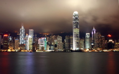 Hong Kong by Night wallpaper