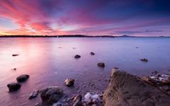 High-resolution desktop wallpaper Half Moon Bay Sunset by Chris Gin