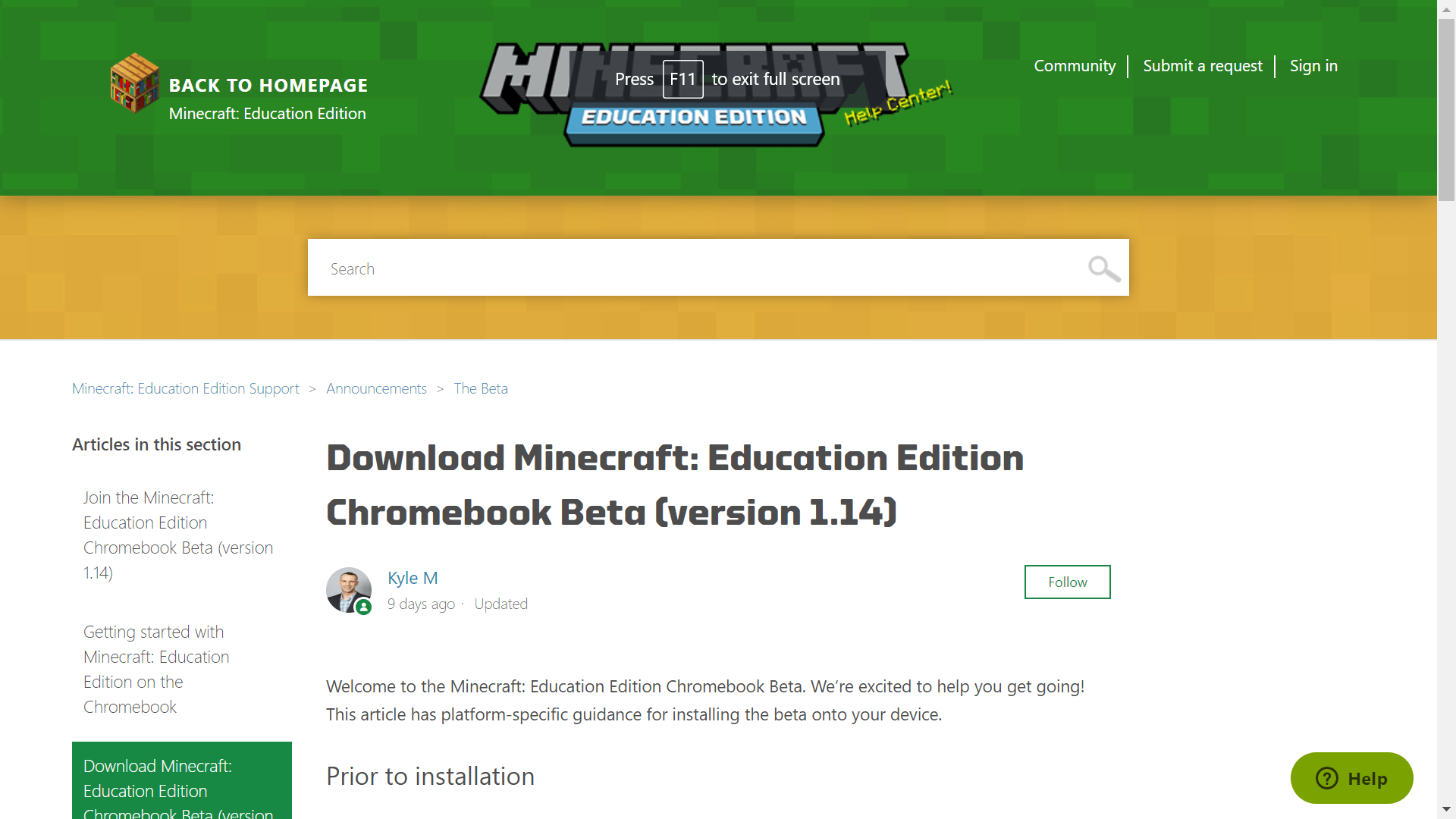Minecraft Education Edition Now Available On Chromebooks