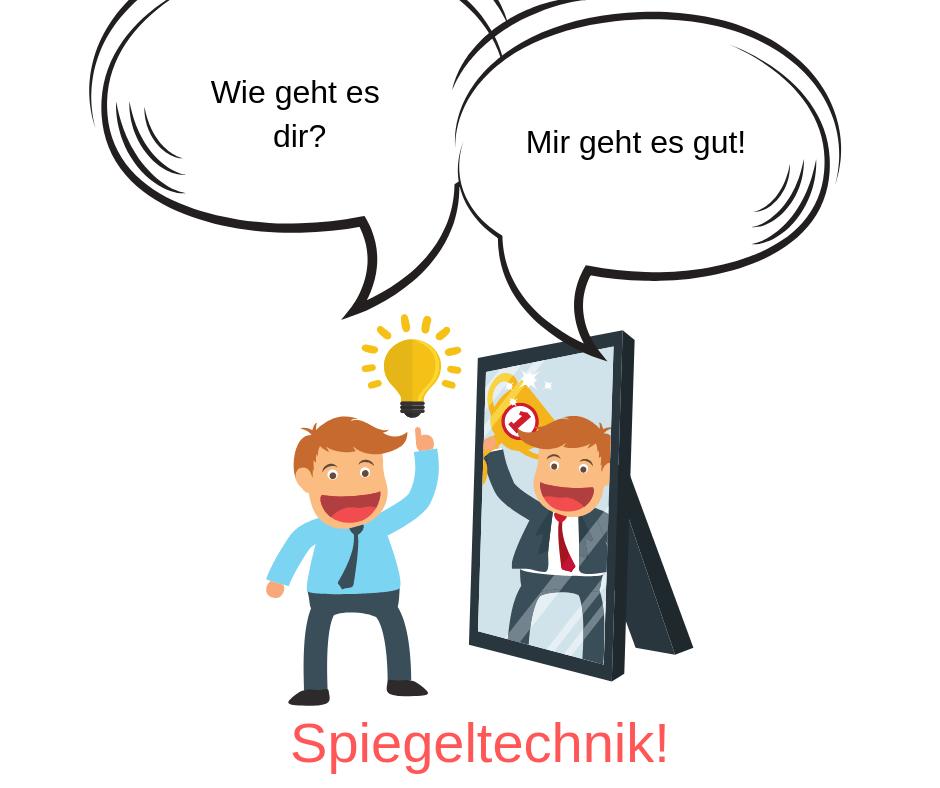 Spiegeln für die Kommunikation mit dem Ex