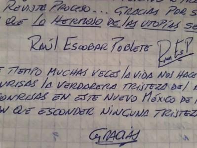 Firma de Raúl Escobar Poblete.