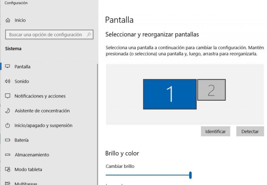 arreglar que windows 10 no detecta pantalla