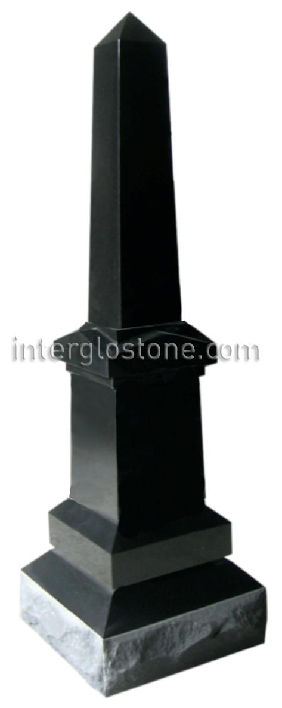 Interglo Stone Fancy Obelisk Headstone