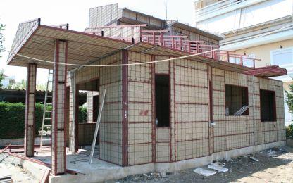 Στήσιμο τοιχοποιιών INTERHAUS με πιστοποίηση από το Αριστοτέλειο Πανεπιστήμιο Θες/νίκης Ανώτατης Ενεργειακής Βαθμίδας. Χαρακτηριστικό είναι η αντισεισμικότητα και ο υψηλός βαθμός θερμομόνωσης και ηχομόνωσης.