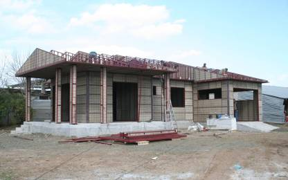 Κατασκευή μεταλλικής Στέγης, με 3 στρώματα  μονώσεων πριν το κεραμίδι.