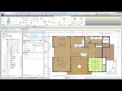 7-1_リビング・ダイニングセット配置 3Di Library for Housing-Family&Template(for Revit)