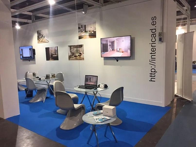 Detalle del stand de InteriCAD en la Feria Habitat 2017 de Valencia