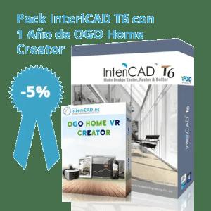 Pack InteriCAD T6 con 1 Año de OGO Home Creator
