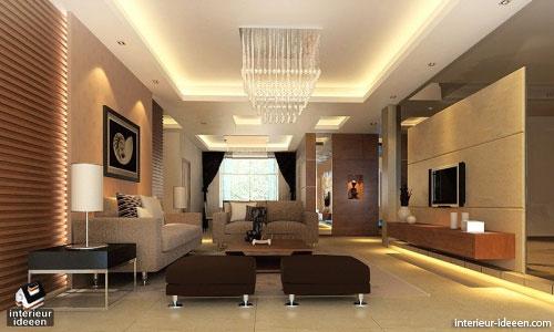 bruine woonkamer interieur ideeen
