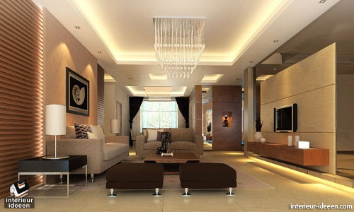 Bruine woonkamer interieur ideeen for Interieur voorbeelden woonkamer modern