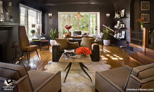 bruine woonkamer - interieur ideeen, Deco ideeën