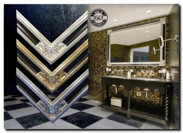 Grote imposante Barok spiegel Basilio