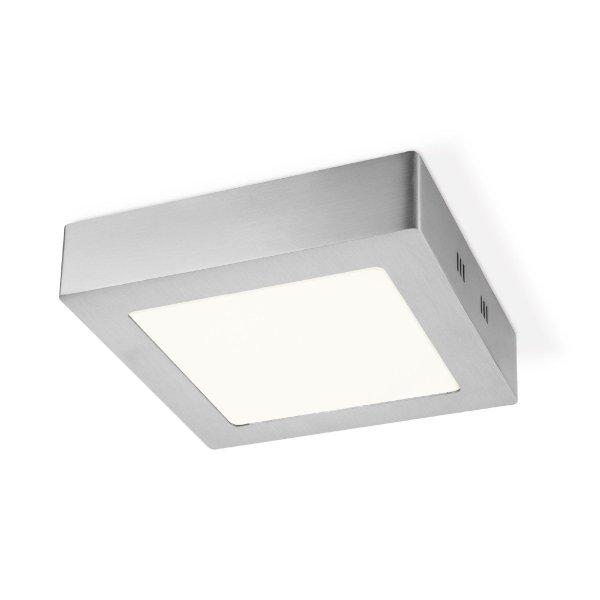 Home sweet home LED plafondlamp Ska vierkant 17 - mat staal