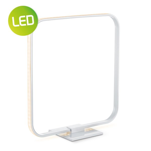Home sweet home tafellamp LED Quad ↕ 35,8 cm - zilvergrijs