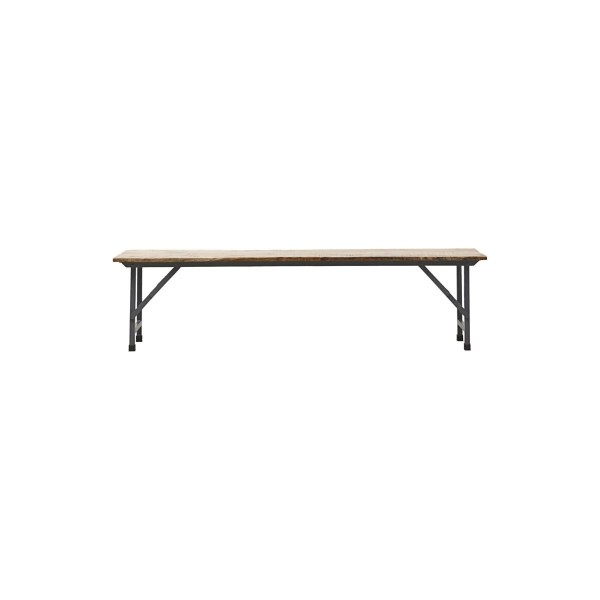House Doctor Bench, Party, Foldable Hout, Metaal Naturel