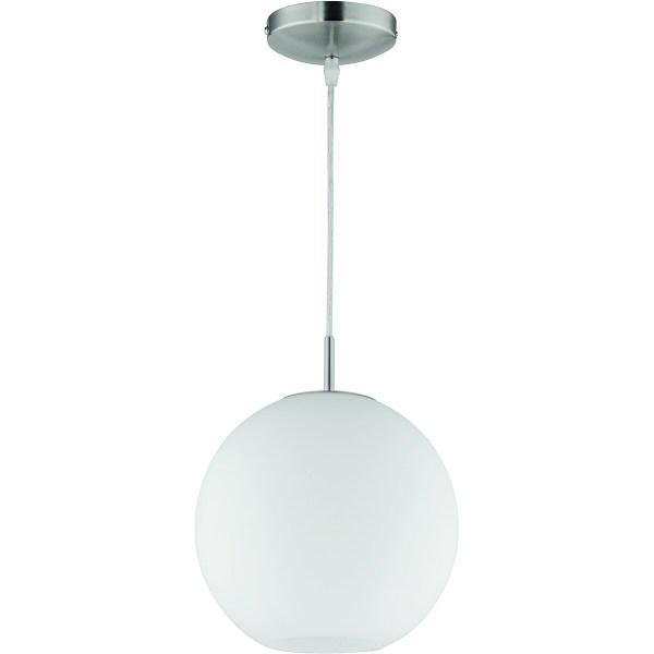 LED Hanglamp - Hangverlichting - Trion Mono - E27 Fitting - Rond - Mat Nikkel - Aluminium