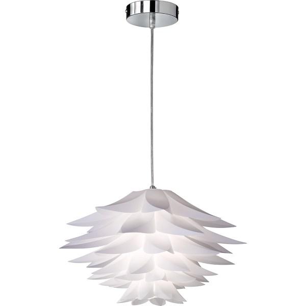 LED Hanglamp - Trion Bomela - E27 Fitting - Rond - Glans Chroom - Aluminium