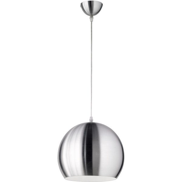 LED Hanglamp - Trion Boniro - E27 Fitting - 1-lichts - Rond - Mat Nikkel - Aluminium