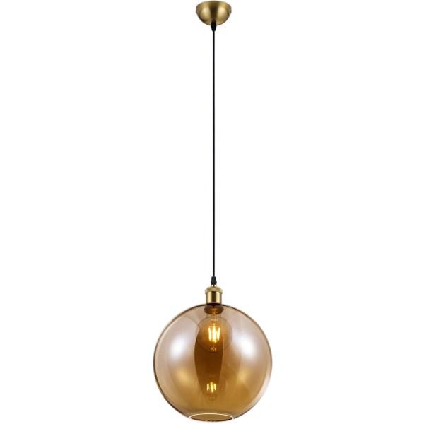 LED Hanglamp - Trion Dini - E27 Fitting - Rond - Mat Goud - Aluminium