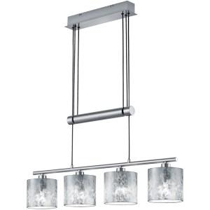 LED Hanglamp - Trion Gorino - E14 Fitting - 4-lichts - Rechthoek - Mat Zilver - Aluminium
