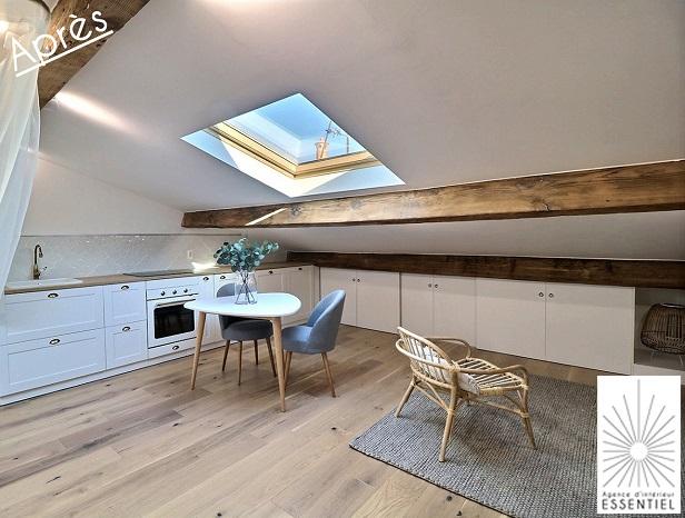 Amenager Et Decorer Un Studio Sous Combles Interieur Essentiel