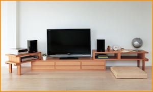 伸縮性テレビボード