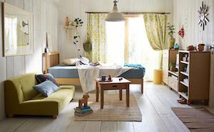 一人暮らしの北欧の部屋