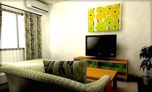 一人暮らしの北欧テイストの部屋