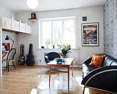 空間を広く見せた男性の一人暮らしの部屋