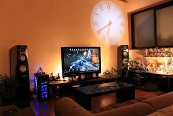 プロジェクション時計がおしゃれなインテリア画像1