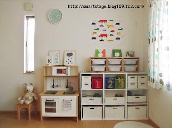 シンプルですっきりとした女の子の子供部屋
