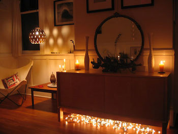 お部屋のアクセントになるおしゃれなイルミネーションライトの実例